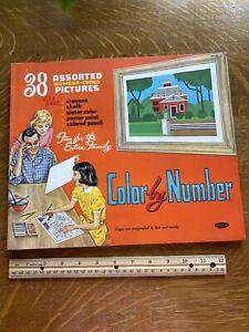 Vintage 1961 Whitman Color By Number Book Unused