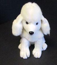 "Platinum Plus Plush White Poodle Sitting 8"""