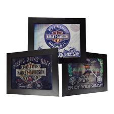 3 Dimension 3D Lenticular Picture Harley Davidson Motor Bike Jack Daniel's