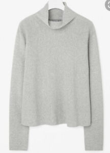COS Cotton Knitted A Line High - Funnel Neck / Jumper UK10 S  RRP£90 *PERFECT*