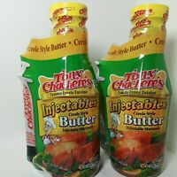 2 packs Tony Chachere's Injectables Creole Style BUTTER Marinade 17oz