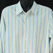 Hollister Mens Size XL Shirt Button Front Striped Holister Casual Extra Large