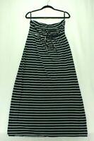 Motherhood Maternity Women's Navy Blue White Stripe Strapless Summer Dress Large