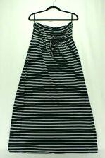 9a372f95588 Motherhood Maternity Women s Navy Blue White Stripe Strapless Summer Dress  Large