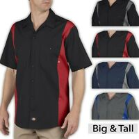 Big and Tall Men's Dickies Two Tone Work Shirt 2XL 3XL 4XL 5XL LT XLT 2XLT 3XLT