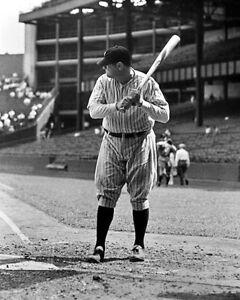 New York Yankees BABE RUTH Glossy 8x10 Photo Baseball Print 'The Bambino' Poster