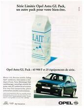 PUBLICITE ADVERTISING 1997    OPEL  ASTRA GL PACK