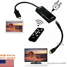 1080P MHL HDMI HD-TV Remote Control Adapter Cable for Galaxy Note 10.1 2014 Ed