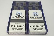 20pcs (2 BX) of Lamina APKT 1604 Inserts