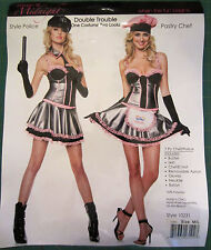 Double Trouble - 1 Costume 2 Looks - Police/Pastry Chef - Women Medium/Large