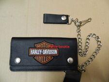 Harley-Davidson Geldbörse Portemonnaie Geldbeutel B&S Kette Hartgeldf.  XML4317