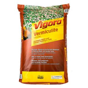 Organic Vermiculite Soil Amendment Promotes Root Growth Retain Plant Food 8 Qt.
