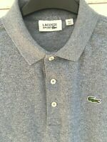 Lacoste Mens Sport Blue Polo Shirt Top Size 3