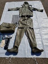 Bundeswehr ABC Schutzanzug Gummianzug Ganzkörperanzug Latzhose Gr.1 und 2 Rubber