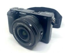 Sony Alpha A6000 24.3MP Digital Camera - Black, E 3.5-5.6/PZ 16-50 OSS Lens