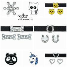 10pcs  8mm Various Slide Charms fit DIY Bracelet or Pet Collar Free shipping
