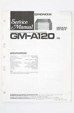 Pioneer GM-A120 car Stéréo puissance Amplificateur Manuel de