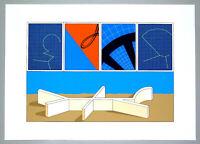 """Lucio DEL PEZZO - """"Senza titolo"""", 1975 - Litografia, 50 x 70 cm"""