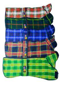 Pet Dog Greyhound Tartan Sweaters Plaid 100%Wool Blanket Fleece Bedding Coats