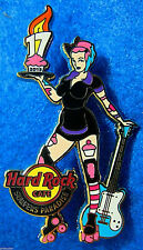 SURFERS PARADISE 17TH ANNIVERSARY ROLLER DERBY CUP CAKE GIRL Hard Rock Cafe PIN