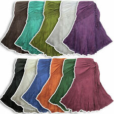 Unbranded Cotton Calf Length Casual Skirts for Women