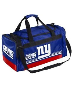 New York Giants Duffle Bag Gym Swimming Carry On Travel Luggage NEW Striped