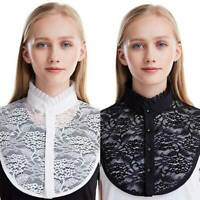 Ladies Lace False Collar Fake Half Shirt Blouse Detachable Travel Collar Bibs