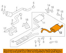 FORD OEM 15-17 Mustang 5.0L-V8-Exhaust Muffler-Rear FR3Z5230AB