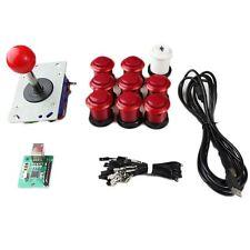Kit Joystick Arcade 1 joueur Bundle Mame bouton bicolore rouge