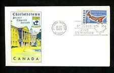 Postal History Canada Scott #499 Overseas Mailer FDC Charlottetown PEI 1969 ON
