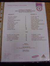 10/01/2014 Chelsea U21 v Reading U21  (single sheet). If this item has any fault