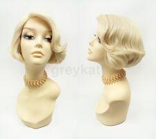 Pre-Trimmed Lace Front Blonde Short Bob Wig Heat Resistant 60s 70s Retro Style