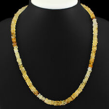 145.00 Cts Natural Single Strand Hessonite Shape Beads Necklace Gemstone