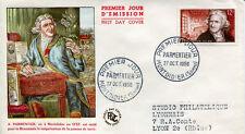 FRANCE FDC - 177 1081 1 PARMENTIER - 27 10 1956