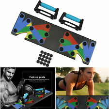 9 in 1 Body Building Push Up Rack Board System Fitness Exercise Tools Training