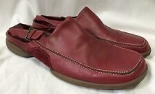 Ecco Red Leather Slingbacks Loafers Women's 10-10.5 Suede Casual Comfort Shoes