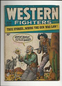 WESTERN FIGHTERS V1 #2 1948 HILLMAN GOLDEN AGE WESTERN VG