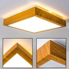 LED Decken Lampe Flur Küchen Wohn Zimmer Bad IP 44 Holzdekor Himmel Leuchte 12 W