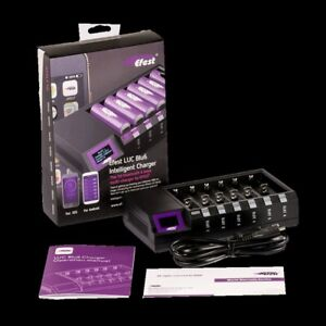 Efest LUC BLU V6 6 Channel Battery Charger ! BLUETOOTH CAPABILITY - BRAND NEW!