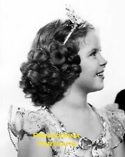 SHIRLEY TEMPLE 8x10 Lab Photo 1939 Adorable Curly Tiara Doll, Dancing Legend
