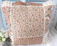 Kissenbezug DORA 50x50 cm Creme Braun Natur Blumen Rosen