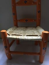 1 ORANGE Wood Chair HAITI LWA VODOU RADA PETRO MAGIC VOODOO CHAIR TI CHèZ LOA