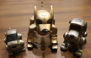 LOT OF 3 - Vintage Robotic Dogs - Silveir I-Cybie - Super Poo-chi - Talentoy