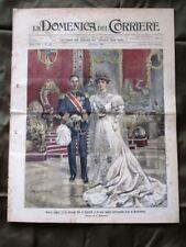La Domenica del Corriere 3 Giugno1906 Nozze Re Alfonso XIII Elefante Auto Lancia