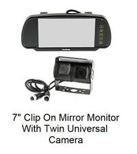 "Parksafe PS7006C09 7"" clip on mirror monitor and twin Universal Rear cameras"