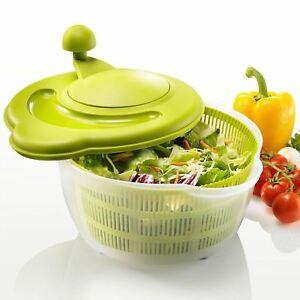 Westmark German Vegetable and Salad Spinner w Pouring Spout & Handcrank, Green