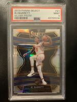 2019 Panini Select #21 RJ Barrett Silver Prizm RC Rookie PSA 9 (Pop 91)