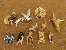 - assorted birds Vintage jewelry lot