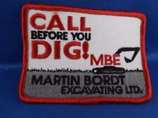 MARTIN BORDT EXCAVATING PATCH BADEN ONT EMPLOYEE VINTAGE COLLECTOR BADGE