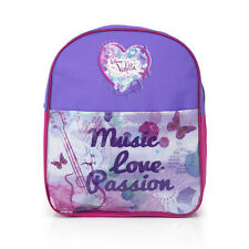 Bag Children Disney Violetta Backpack Pink Purple Polyester Size 31x25x9cm